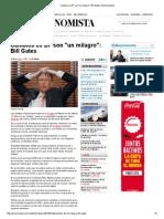 Bill Gates Augura Un Optimismo Global Para El Futuro