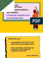 Alumnos Que Desconocen Español-criterios Linguisticos