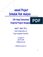 Schedule Risk Analysis