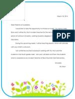blue mountain letter to parents- kb