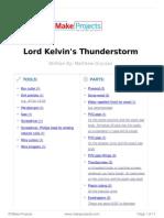 Lord Kelvin s Thunderstorm