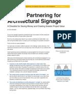 Vendor Partnering for Architectural Signage