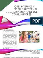 2.1 Factores Internos y Externos Que Afectan El Comportamiento de Los Consumidores
