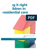 Getting It Right for Children in Residential Care