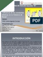 Influencia de Las Constantes Elasticas en La Voladura de Rocas