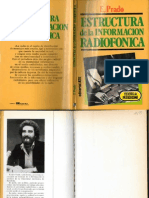 Estructura de la información radiofónica - E. Prados