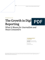 Shifts in Reporting for - State of the News Media 2014