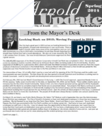 City of Arnold Spring Newsletter 2014 Promotes Certain Candidates