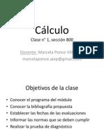 Clase n°1 - Cálculo sección 800