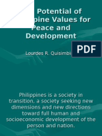 The Potential of Philippine Values for Peace and Development