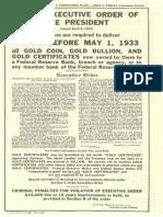 1933 Confiscation Act (Actual Copy of Original Order)