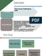 APRESENTAÇÃO ABSORÇÃO FARMACOCINÉTICA