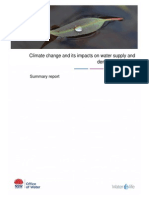 Climate change and its impacts on water supply and demand in Sydney