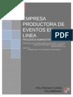 Empresa Productora de Eventos en Linea[1]