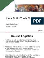 Lava Build Tools Training