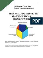 Plan Transicion 2014matematicas