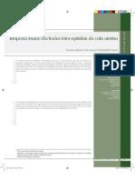 AULA 2.3 - ART GERAL - 05.03.14 - Resposta imune nas lesões intra-epiteliais do colo uterino