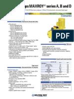 MAXROY Series a, B & D Datasheet