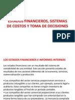 Estados Financieros, Sistemas de Costos y Toma de Decisiones