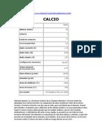 Monografía Calcio