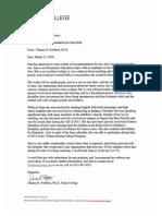 portfleet recommendation letter