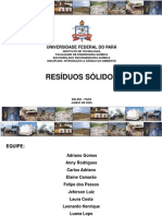 APRESENTAÇÃO RESÍDUOS SÓLIDOS UFPA 2009