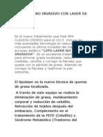 Lipolaser No Invasivo Con Laser de Diodo PDF