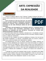 ARTE EXPRESSÃO DA REAIDADE