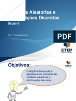 Estatística - seção 5 - Variáveis aleatorias e distribuições