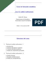 Técnicas de análisis multivariante