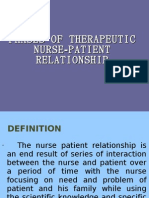 Phases of Therapeutic Nurse - Patient Relationship
