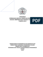 Pedoman Pemilihan Kepsek Dikdas 2013