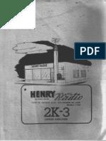 Henry 2K-3 RF Linear Amplifier