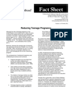 Reducing Teenage Pregnancy