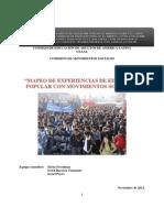 Mapeo de Experiencias de Educacion Popular Con Movimientos Sociales