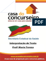 Apostila SecretariaDaSaude InterpretacaoDeTexto MariaTereza