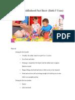 ece497 infancy  toddlerhood fact sheet1