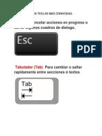 FUNCIÓN DE LAS TECLAS MÁS CONOCIDAS