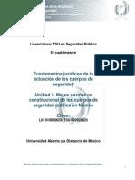 Unidad 1. Marco Normativo Constitucional de Los Cuerpos de Seguridad Publica en Mexico