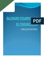 BALORARIO DESARROLLADO DE COMUNICACIÓN