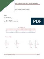 Analisis Estructural de Viga Continua Por El Metodo de Rigidez