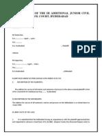 Plaint & Written Statement
