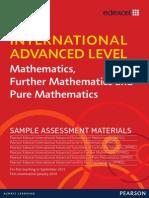 IAL Mathematics Sample Assessment Material