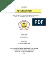 Referat Retensi Urin Sutiasih