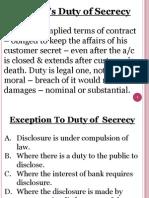 Banker's Duty of Secrecy