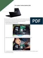 Cara Membersihkan Fan Laptop Toshiba Satellite C640