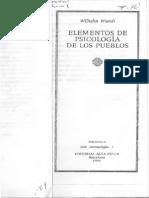Wundt, Wilhelm. -Introducción- en Elementos de Psicología de los Pueblos