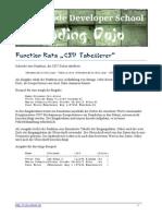 Function Kata CSV Tabellierer