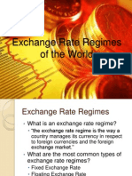 Exchange Rate Regimes of the World