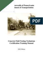 Concrete Field Testing Technician_CTM
